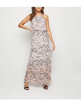 Pink Ombré Tiger Print Tiered Maxi Dress by New Look