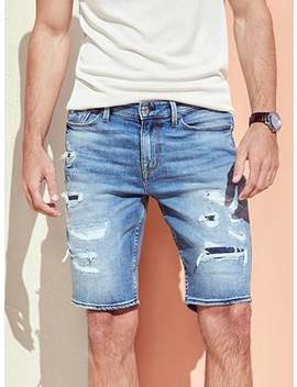 Slim Destroyed Denim Shorts by Guess