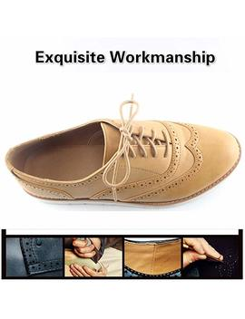 Susanny Women's Wigtips Oxfords Platform Lace Up Brogues Slip On Perforated Spring Shoes by Susanny