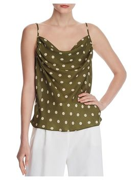 Cowl Neck Polka Dot Camisole by Chriselle Lim