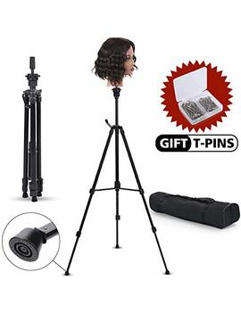 Klvied Metal Adjustable Tripod Wig Stand, Mannequin Head Holder Stand, Canvas Block Wig Head Stand, For Hair Salon, Hairdressing, Cosmetology... by Klvied