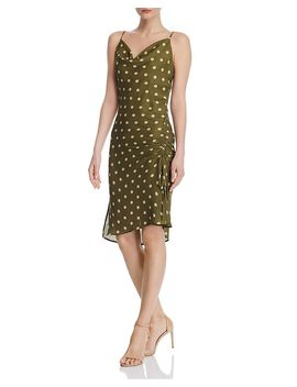 Cowl Neck Polka Dot Slip Dress by Chriselle Lim