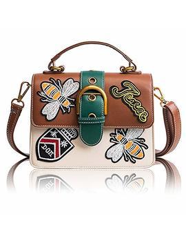 Beatfull Retro Embroidery Shoulder Bag For Women, Bee Crossbody Bag Handbag by Beatfull