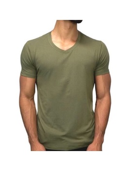The Esntl Green V Neck T Shirt Preowned/Used by Esntl