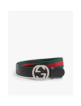 Web Band Belt by Gucci