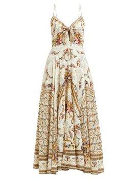 Olympe Ode Print Silk Dress by Camilla