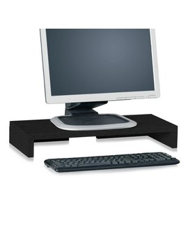 Eco Friendly Computer Monitor Stand Riser, Black   Lifetime Guarantee by Way Basics