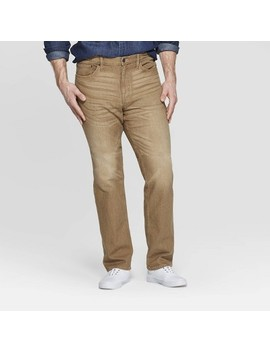 Men's Big & Tall Straight Fit Jeans   Goodfellow & Co™ Khaki by Goodfellow & Co
