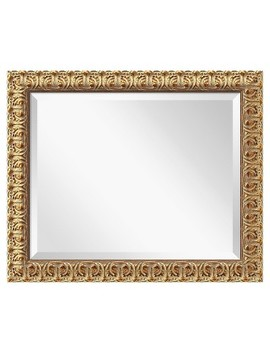 Rectangle Florentine Decorative Wall Mirror Gold   Amanti Art by Amanti Art
