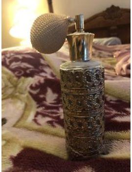 Ornate Gold Perfume Bottle Victorian by Ebay Seller