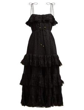 Juniper Pintuck Pleated Cotton Dress by Zimmermann