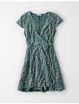 Ae Short Sleeve Wrap Dress by American Eagle Outfitters