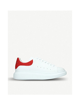 Show Suede Trimmed Leather Platform Trainers by Alexander Mcqueen