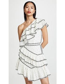 Black Rose Embroidered One Shoulder Dress by Love Sam