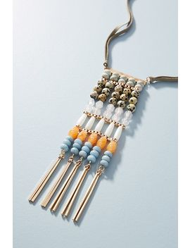 Beaded Ladder Pendant Necklace by Anthropologie
