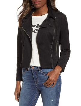 Not Your Baby Faux Suede Moto Jacket by Bb Dakota