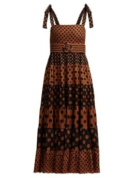 Juno Spotted Belted Dress by Zimmermann