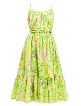 Lea Botanical Print Cotton Dress by Rhode Resort