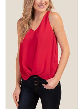 Angelina Twist Front Tank Top by Francesca's
