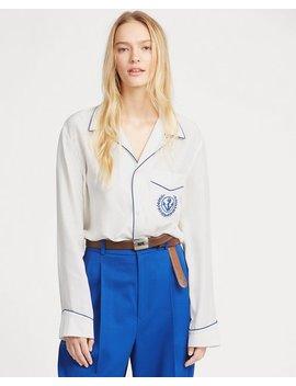 Embroidered Silk Shirt by Ralph Lauren