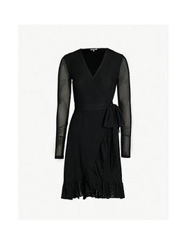 Addison Mesh Wrap Dress by Ganni