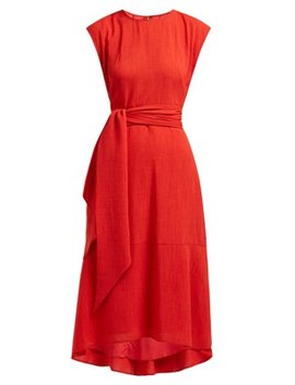 Freya Tie Waist Voile Midi Dress by Cefinn