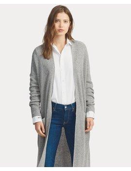 Wool Blend Open Front Cardigan by Ralph Lauren
