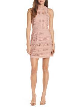 Noelle Mock Neck Lace Dress by Adelyn Rae