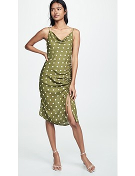 Crean Olive Polka Dot Dress by Chriselle Lim Collection