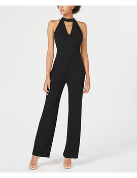 Cutout Halter Jumpsuit, Created For Macy's by Bar Iii