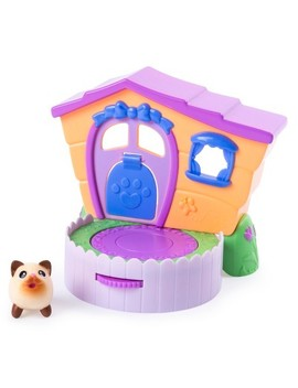 Chubby Puppies & Friends – 2 In 1 Flip N' Play House Playset With Siamese Kitty Collectible Figure by Chubby Puppies