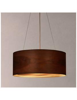 John Lewis & Partners Mia Ceiling Light, Walnut by John Lewis & Partners
