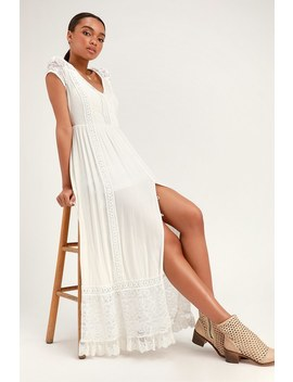 Bermuda White Lace Maxi Dress by Band Of Gypsies