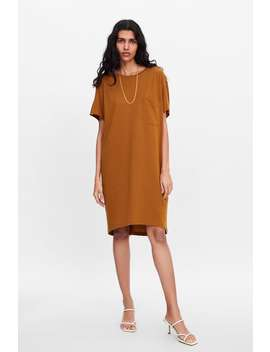 Longline T  Shirt With Pocket Midi Dresses Woman by Zara