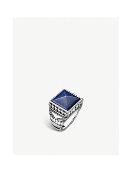 Rebel At Heart Pyramid Skulls Silver Signet Ring by Thomas Sabo