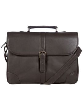Pure Luxuries London   Brown 'wallace' Leather Briefcase by Pure Luxuries London