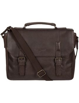 Pure Luxuries London   Cocoa 'idris' Leather Briefcase by Pure Luxuries London