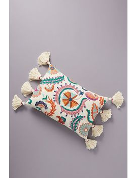 Embroidered Valeria Pillow by Anthropologie