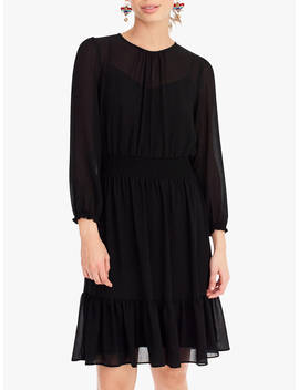 J.Crew Glendale Chiffon Dress, Black by J.Crew