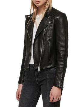 Bircham Leather Biker Jacket by Allsaints