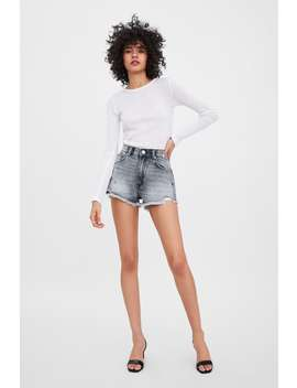 Mid  Rise Denim Shortsnew In Trf by Zara