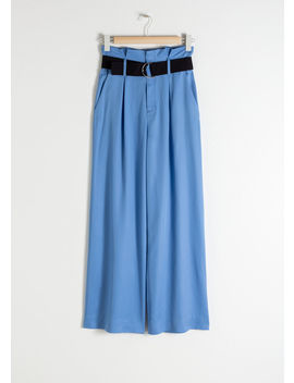 Belted Lyocell Trousers by & Other Stories