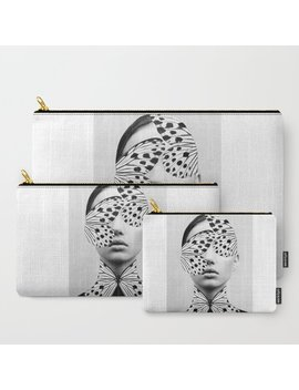 Woman Butterfly Carry All Pouch by Society6