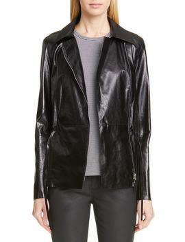 Jurnee Leather Jacket by Lafayette 148 New York