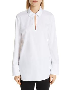 Agatha Keyhole Blouse by Lafayette 148 New York