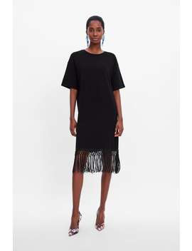 Fringed Dress  Midi Dresses Woman by Zara