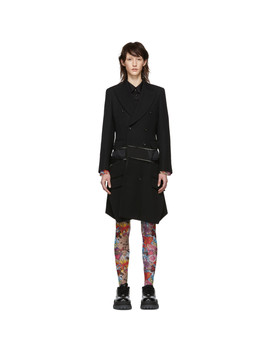 Black Wool Double Breasted Coat by Comme Des GarÇons