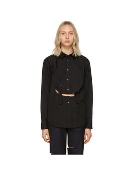 Black Cut Out Shirt by Comme Des GarÇons Homme Plus
