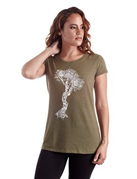 Women's Hemp T Shirt, Made From Hemp, Ojibwa Witch Tree Design Top, 100 Percents Organic Sustainable Tee by Green Twine