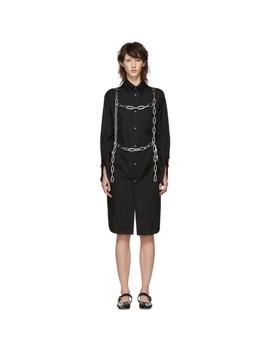 Black Chains Shirt Dress by Comme Des GarÇons